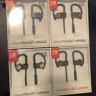 New Powerbeats 3 wireless headphones