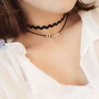 Wavy Solver Beaded Choker (pick up only)