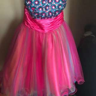 Sequin Strapless party dress