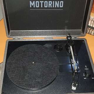 Black Motorino turntable