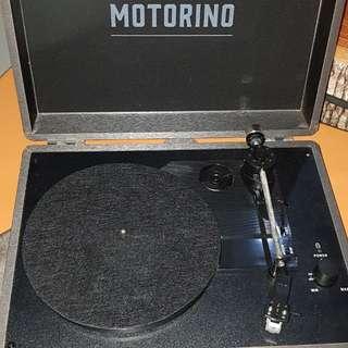 Black Motorino turntable