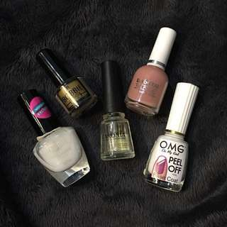 NAIL POLISH SET + FREE PEEL OFF!