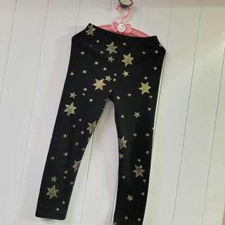 女童滿版星星內搭褲🌟微厚棉🌟13號