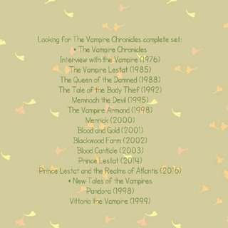 Looking for: Vampire Chronicles