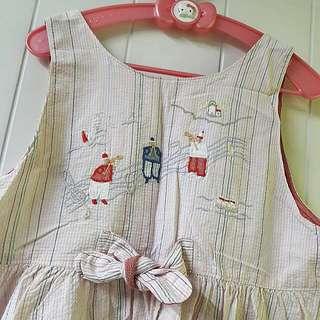 日本購入材質很優🌟女童棉麻洋裝🌟120公分🌟