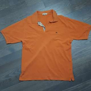 Orange burberry polo shirt
