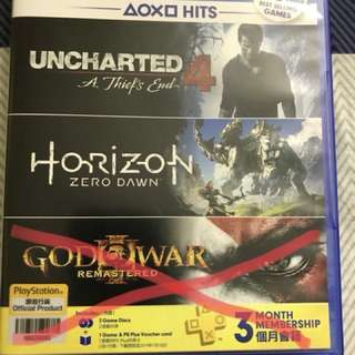 Ps4 games(HZD & UNCHARTED 4)