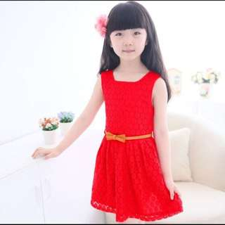 DRESS RED + BELT