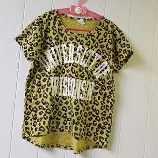 女童豹紋短袖🌟15號🌟