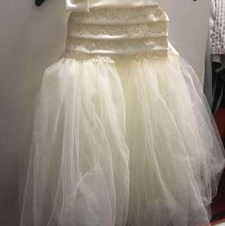 Ivory flower girl dress size 3