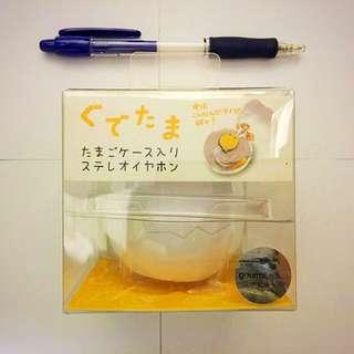 Gudetama oval cased stereo earphone (日本限定)