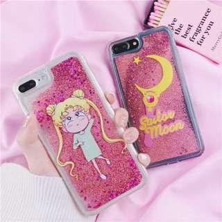 月野兔流沙iphone case