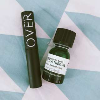 Make Over Ultra Hi-Mate & Body Shop Tea Tree Oil