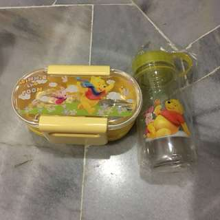 Winnie The Pooh lunch box and water bottle