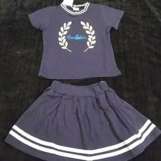 Girl top + skirt (size 110, 3-4 yrs old)