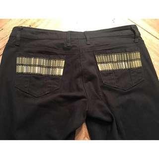 Sass & Bide black denim 'Neon Nights' Jeans, size 27 / 9