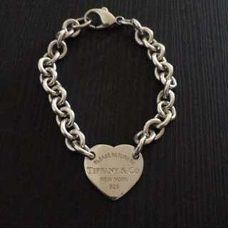 Tiffany & Co RTT heart silver bracelet