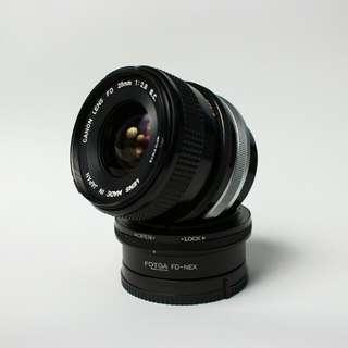 Canon FD 28mm f2.8 s.c