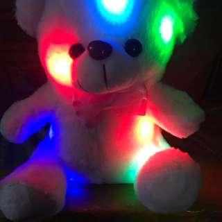 Teddy bear with lights