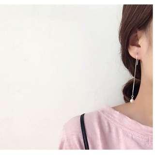 Jane S925 Ear Needle Pearl Dangling Earring (6mm)
