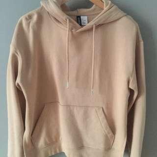 HM soft beige hoodie