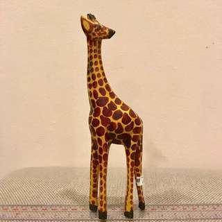 African giraffe wooden figurine