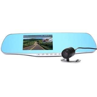 [SALE] Dual Lens Dash Cam Rear View Mirror Car Camera 4.3 Inch