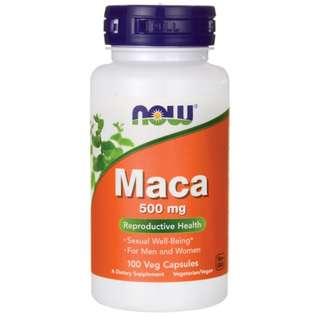 (USGMP) NWF136 NOW Foods Maca 500mg 100粒 頂級瑪卡精華 重振雄風