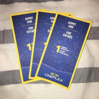 Cineplex general admission ticket