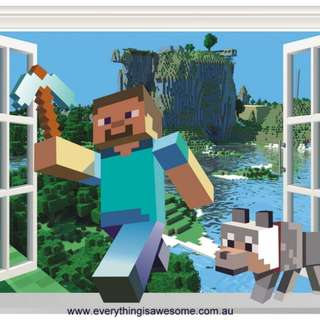 New Minecraft Wall Decal Sticker