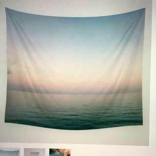 Pastel ocean Wall Tapestry from Society 6