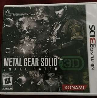 3DS Metal Gear Solid Snake Eater