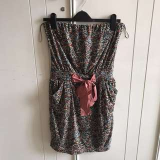 Mango Floral Tube Dress
