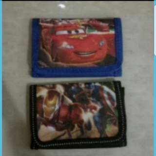 In Stock Iron Man Cars Wallets For Boys