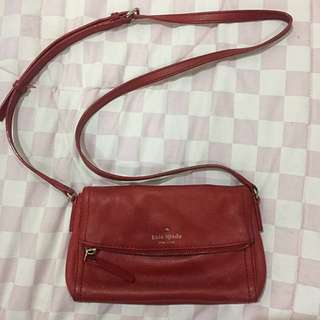 Authentic kate spade red mini sling bag
