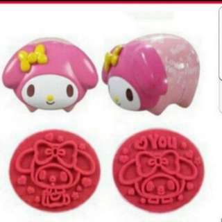 In stock sanrio my melody self inking stamp 2 in 1