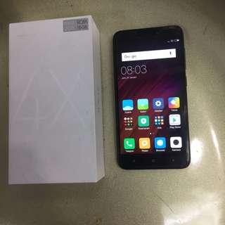 Xiaomi Redmi 4x Black Fullset mulus 97%