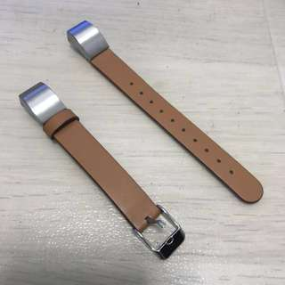 Brown Leather Strap Compatible with FitBit Alta / Alta HR