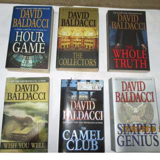 David Baldacci, Paperbacks, Pre-loved Book/Books, Softbound