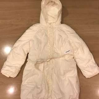 Girls' Puffy Winter Coat with Hood