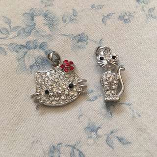 Hello kitty sold- cat pendant