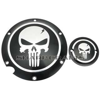 Harley Sportster Iron XL Black skull derby timer Cover set