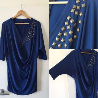 Wayne By Wayne Cooper Midnight Blue Dress
