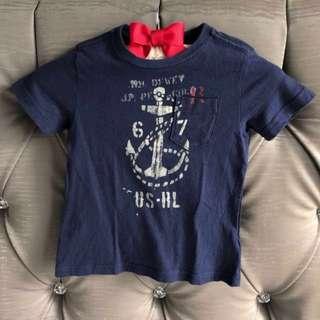 "Preloved Polo Ralph Lauren 2T ""Anchor"" Cotton Tee Shirt for Toddler Boy"