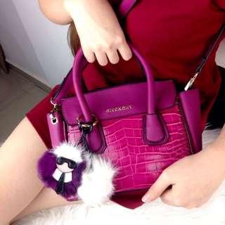 Givenchy Pandora Croco Top Handle Bag