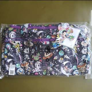 JuJuBe x Tokidoki Space Place Starlet Duffel bag for travels vacation flight cruise swimming gym etc
