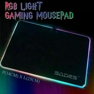 Mousepad Gaming Sades RGB LIGHT Mouse Pad
