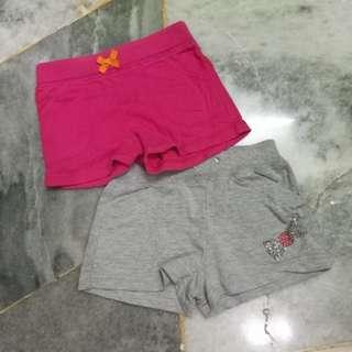 Carter's Girl Short Pants 4T x 2pcs