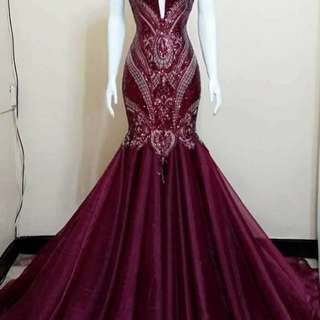 high quality long gown