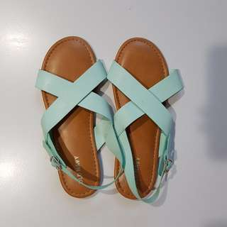 Big girl Mint Green Old Navy Sandals